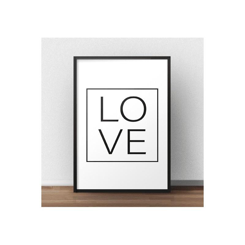 """Minimalistyczny plakat """"LOVE"""" na ścianę"""