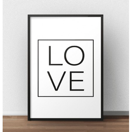 """Minimalistyczny plakat """"LOVE"""""""