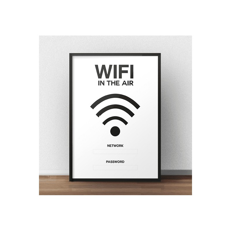 Poster for the wall Wifi in the air