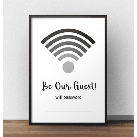 "Plakat na ścianę ""Be our guest"""