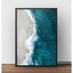 "Plakat fotograficzny ""Plaża i morze"""