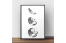 """Skandynawski plakat na ścianę """"3 fazy księżyca"""""""