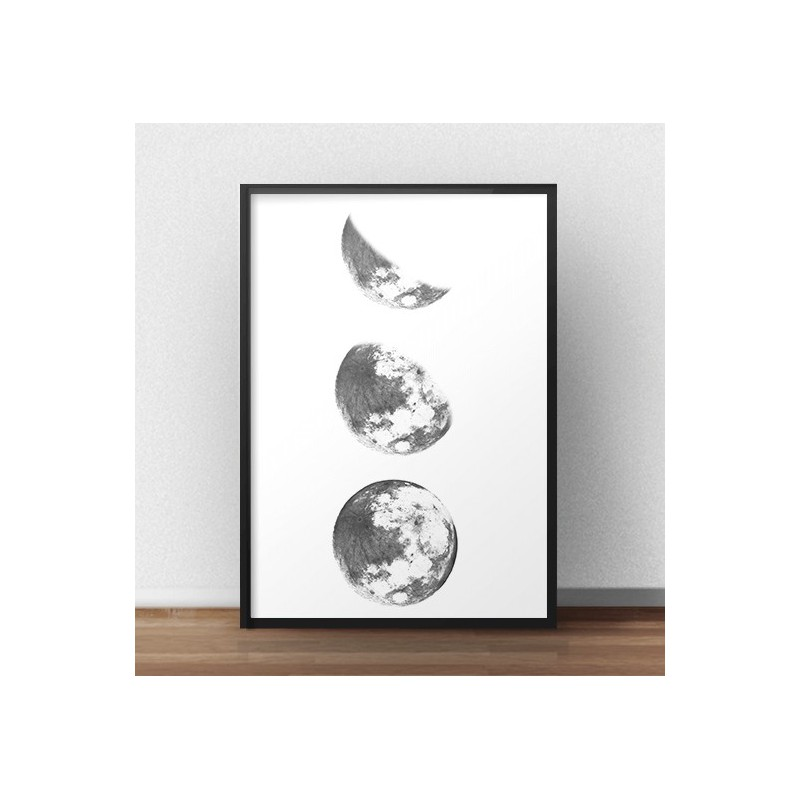 Poster for the wall 3 phases of the moon