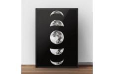 """Skandynawski plakat """"Fazy księżyca"""" w kolorze czarnym"""