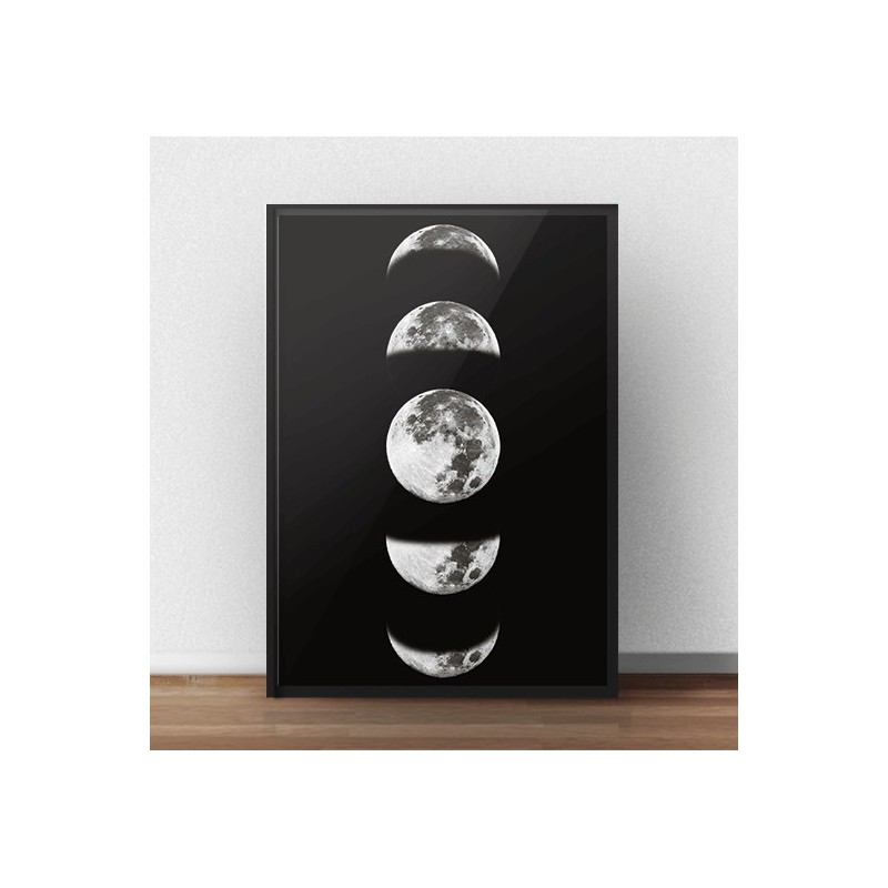 Scandinavian poster Phases of the Moon