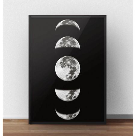 """Skandynawski plakat """"Fazy księżyca"""""""