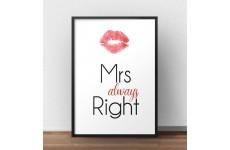 """Plakat """"Mrs always Right"""" wchodzący w skład zestawu plakatów"""