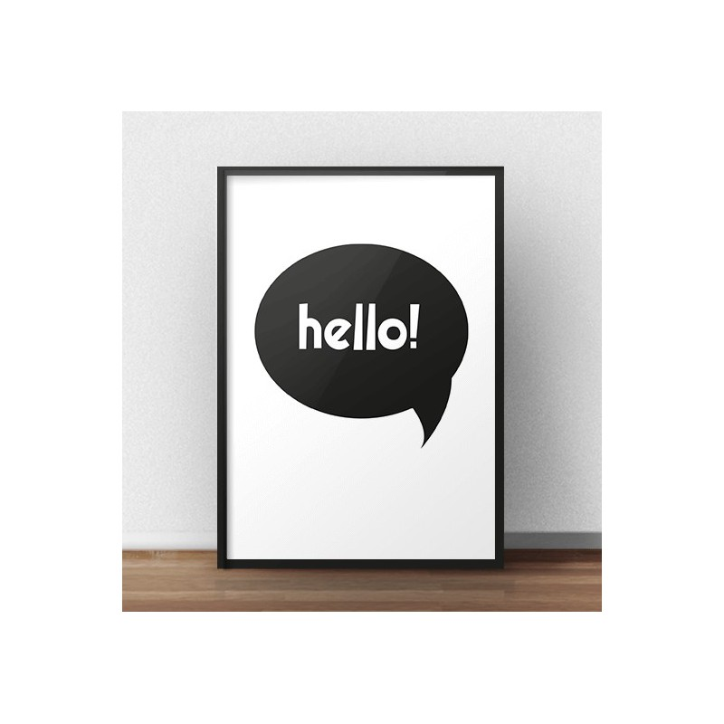 Free poster with the words Hello