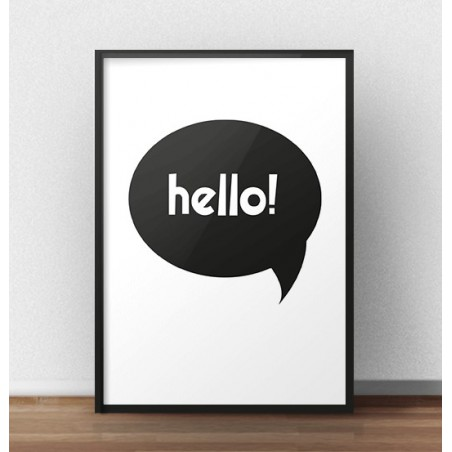 """Darmowy plakat z napisem """"Hello"""""""