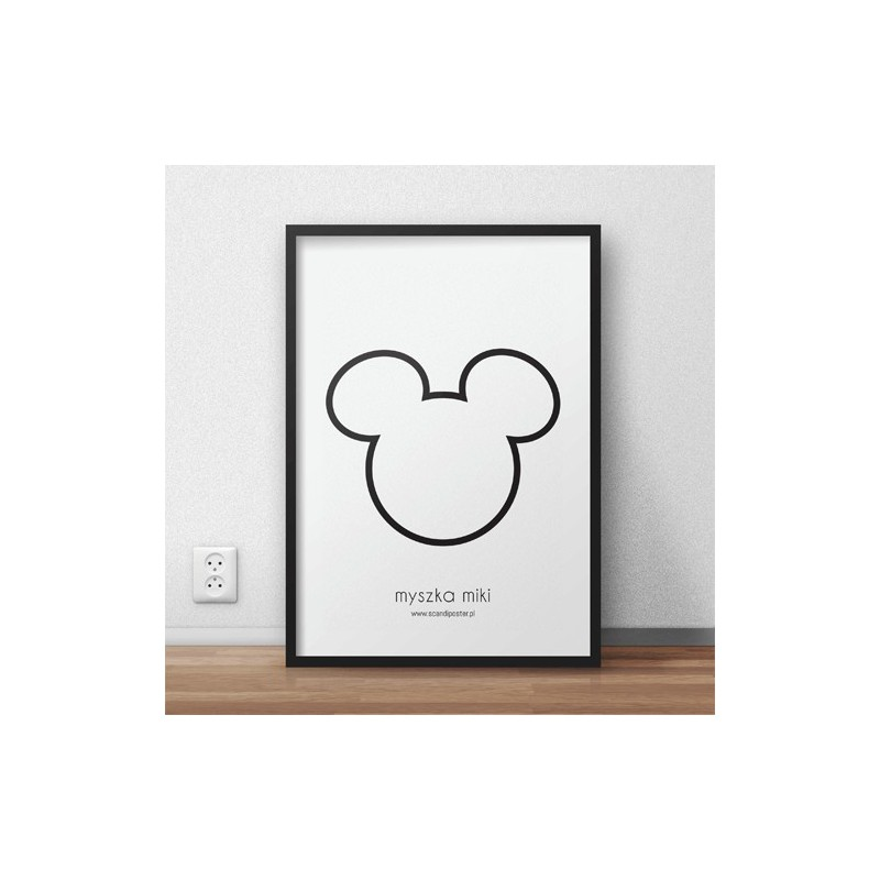 Free poster Mickey Mouse contour