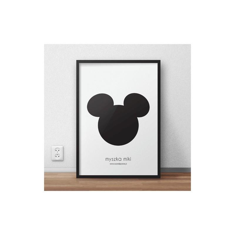 """Darmowy plakat """"Myszka Miki"""" do samodzielnego wydruku"""