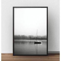 """Plakat fotograficzny """"Samotna żaglówka"""" do powieszenia na ścianie"""