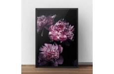 """Elegancki plakat glamour przedstawiający kwiaty """"Peonie"""""""