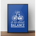 Colorful poster Life is all about balance 7