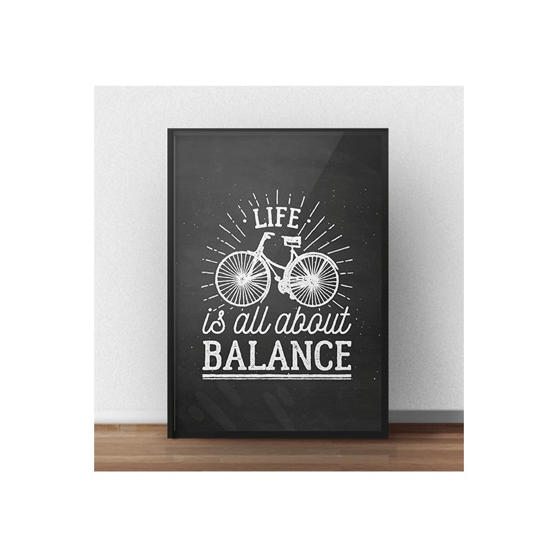 Ciemny plakat Life is all about balance