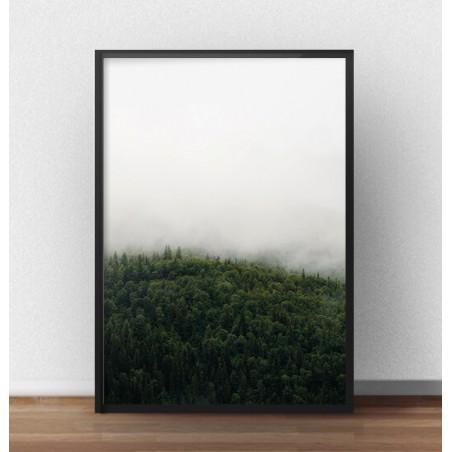 """Skandynawski plakat """"Zielony las we mgle"""""""