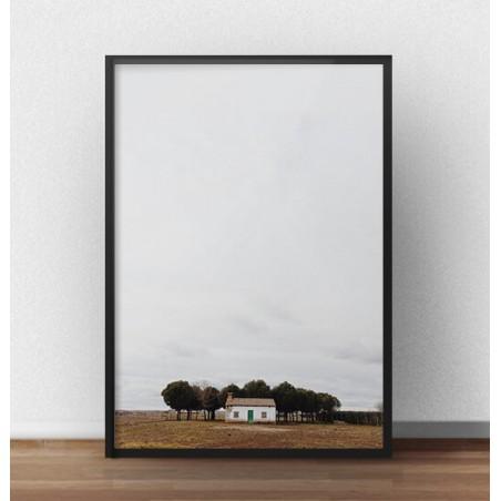 """Plakat fotograficzny """"Samotny domek"""""""