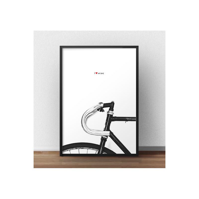 Poster with bike I love my bike