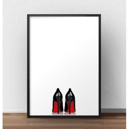 "Minimalistyczny plakat fashion ""Heels"""