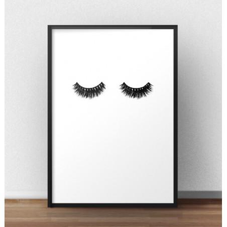 """Minimalistyczny plakat fashion """"Lashes"""""""