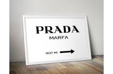 """Plakat dekoracyjny na ścianę """"Prada - Marfa"""" w wersji poziomej"""