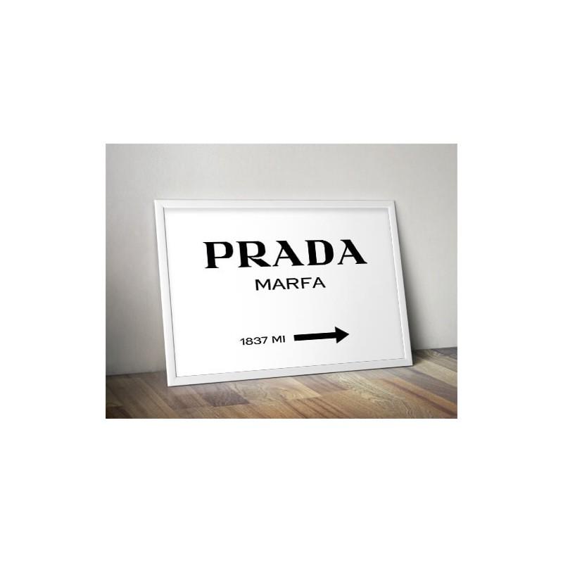 Decorative poster Prada - Marfa