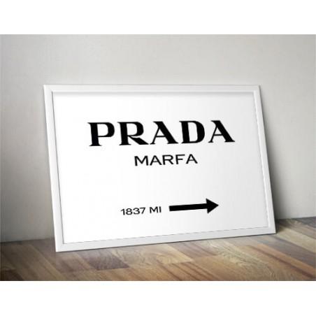 """Plakat dekoracyjny """"Prada - Marfa"""""""
