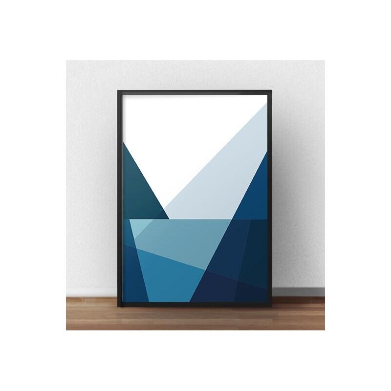 Geometric poster Mountains and Lake I