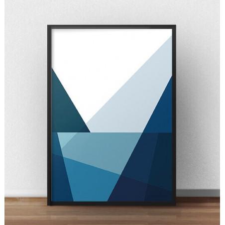 """Plakat geometryczny """"Góry i jezioro"""" I"""