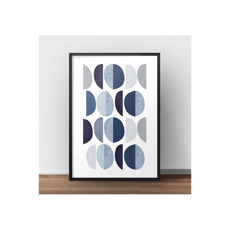 """Geometryczny plakat abstrakcyjny na ścianę """"Skandynawskie księżyce"""""""