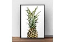 Kolorowa grafika na ścianę z ananasem