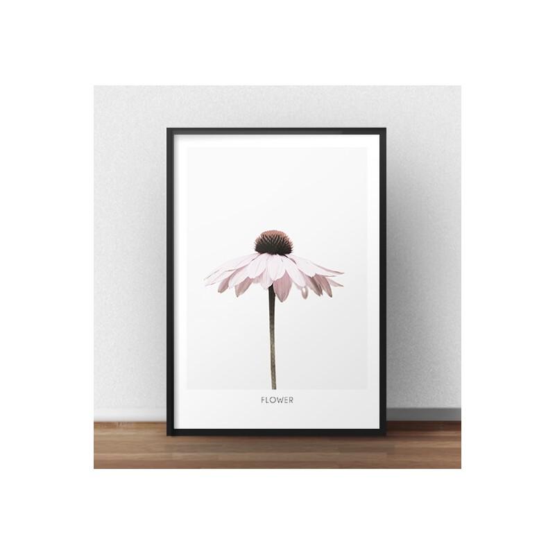 """Plakat na ścianę z różowym kwiatkiem """"Flower"""""""