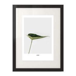 """Kolorowa grafika na ścianę z zielonym liściem """"Leaf"""""""