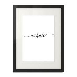 """Grafika na ścianę z wyrazem """"Inhale"""""""