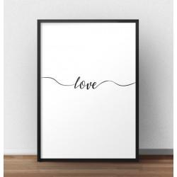 """Plakat z napisem """"Love"""" do powieszenia na ścianie"""