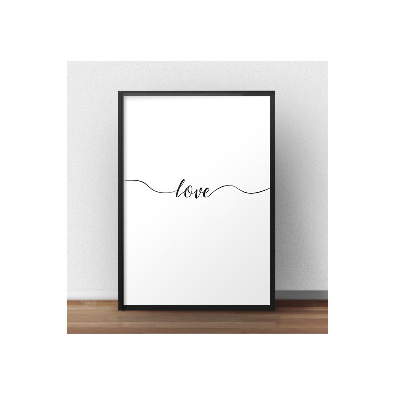 Poster with the words Love