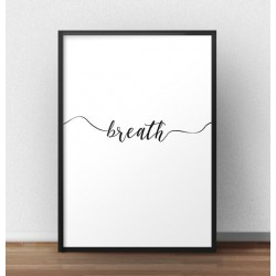 "Plakat z napisem ""Breath"""