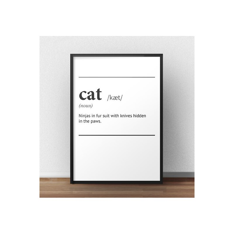 Poster with the word definition Cat