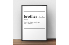 """Plakat z napisem definicji słowa """"Brother"""", czyli brat w języku angielskim"""