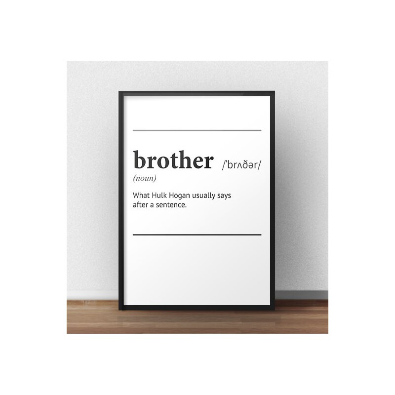 Poster with the word definition Brother