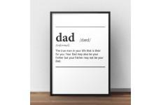 """Plakat z napisem definicji słowa tata - """"Dad"""" w języku angielskim"""