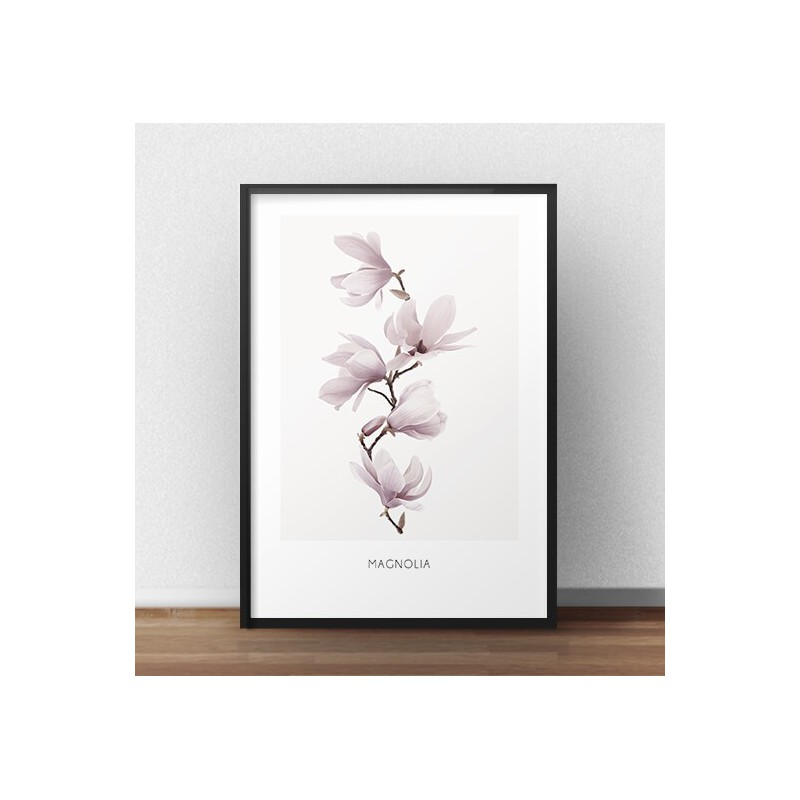 Poster with magnolia twig