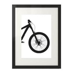 Plakat na prezent z przodem roweru enduro downhill