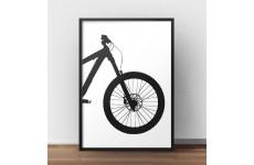 Plakat z przodem roweru enduro downhill