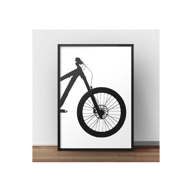 Poster with front of enduro bike
