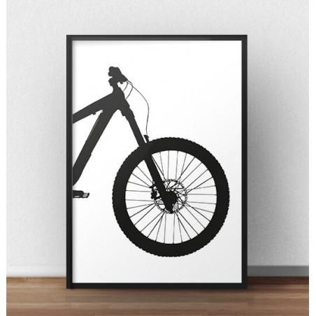 Plakat z przodem roweru enduro