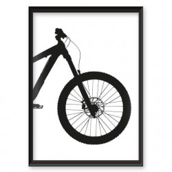 Plakat na ścianę z rowerem enduro downhill