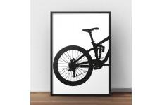 Plakat z tyłem roweru enduro downhill do powieszenia na ścianie