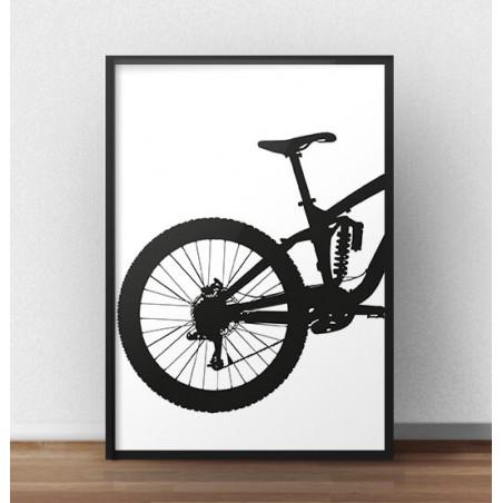 Plakat z tyłem roweru enduro