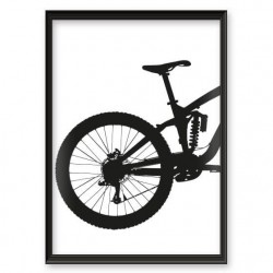 Grafika przedstawiająca tył roweru enduro downhill